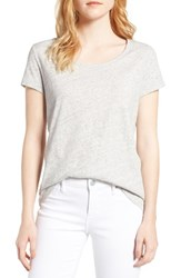 Vineyard Vines Women's Scoop Neck Tee Gray Heather