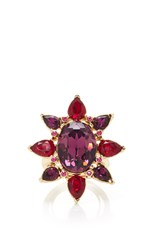Oscar De La Renta Tropical Bloom Star Ring Pink