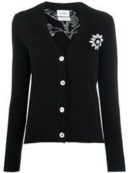 Barrie Button Up Stitched Symbol Cardigan 60