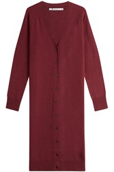 Alexander Wang T By Wool Cardigan With Cashmere Red