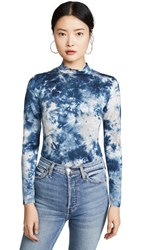Young Fabulous And Broke Mock Neck Tie Dye Top Midnight Canyon Wash
