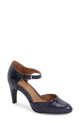 Women's Sofft 'Palesa' Leather Pump Peacoat Navy Snake Print