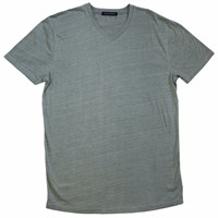 Lords Of Harlech Patriot V Neck Tee In Olive Green