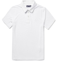 Vilebrequin Cotton Blend Terry Polo Shirt White