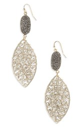 Panacea Women's Drusy Crystal Earrings Multi
