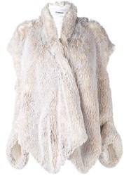 Chalayan Open Shoulder Jacket Nude And Neutrals