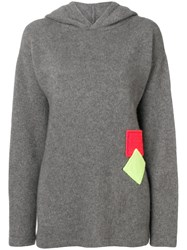 The Elder Statesman Hooded Jumper Grey