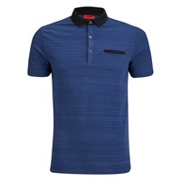 Hugo Men's Desaro Contrast Collar Polo Shirt Royal Blue