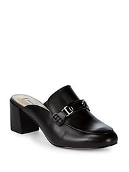 Saks Fifth Avenue Kathleen Buckled Leather Mules Black