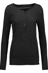 Enza Costa Cotton And Cashmere Blend Top Anthracite