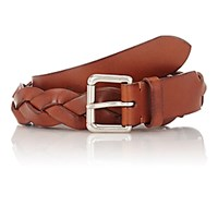 Felisi Men's Braided Leather Belt Brown