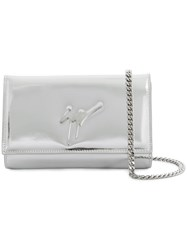 Giuseppe Zanotti Design Cross Body Clutch Bag Silver
