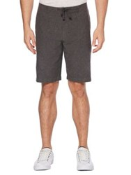 Perry Ellis Regular Fit Linen Drawstring Shorts Bright White