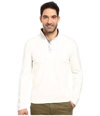 Calvin Klein Long Sleeve Quarter Button Color Blocked Knit Shirt Cool Gris Heather Men's Clothing White