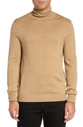 Vince Camuto Men's Merino Wool Turtleneck Camel
