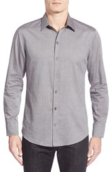 Zachary Prell 'Marco' Regular Fit Long Sleeve Sport Shirt Grey