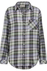 Current Elliott The Prep School Plaid Cotton Flannel Shirt Multi