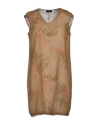Tonello Short Dresses Camel