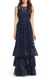 Shoshanna Women's Fowler Tiered Lace Gown