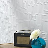 Graham And Brown Paintable Squares Wallpaper Multicolor