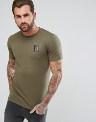 11 Degrees Logo T Shirt Green