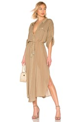 Spell And The Gypsy Collective Linda Shirt Dress Brown