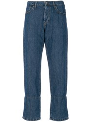 Marni Printed Lining Jeans Blue