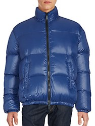 Dsquared Solid Quilted Puffer Jacket Blue