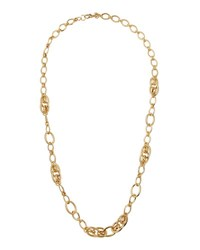 Lydell Nyc Long Oval Link Necklace Gold