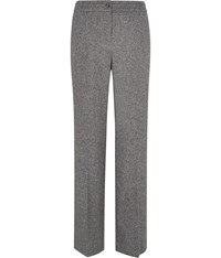Austin Reed Black And White Donegal Tweed Trousers Grey