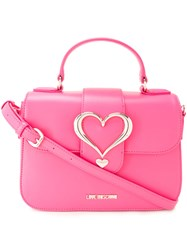 Love Moschino Heart Buckle Cross Body Bag Pink Purple