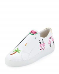 Here Now Kamea Beach Embroidered Sneaker White Pattern