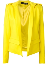 Alexandre Vauthier Fitted Military Jacket Yellow And Orange