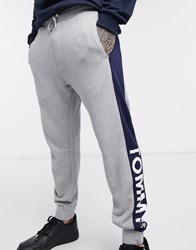 Tommy Jeans Colourblock Joggers Grey