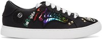 Marc Jacobs Black Embroidered Empire Sneakers