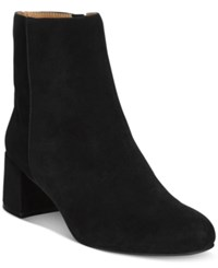 Adrienne Vittadini Lousia Suede Booties Women's Shoes Black Kidsuede