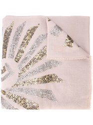 Janavi Illusion Sequined Scarf Neutrals