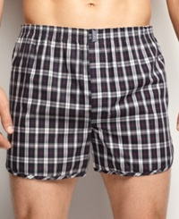 Jockey Men's Underwear Classic Tapered Boxer 4 Pack Plaid Assorted
