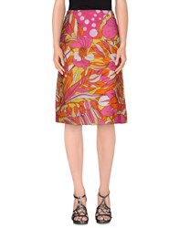 Antik Batik Skirts 3 4 Length Skirts Women Fuchsia