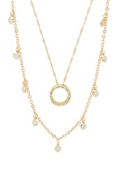 Frasier Sterling What Goes Around Necklace Set Metallic Gold