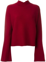 Proenza Schouler Bell Sleeve Jumper Red