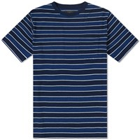 Beams Plus Indigo Stripe Pocket Tee Blue