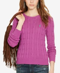 Polo Ralph Lauren Cable Knit Cotton Sweater Hyannis Purple