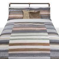 Amara Block Stripe Duvet Set Multi