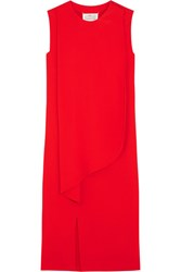 Maison Martin Margiela Draped Crepe Dress Red