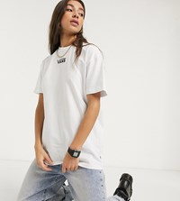 Vans Oversized Chest Logo T Shirt In White Exclusive At Asos