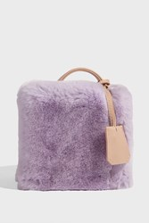 Natasha Zinko Rex Rabbit Fur Box Bag Purple