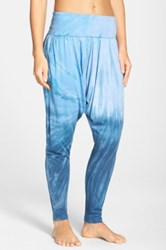Hard Tail Roll Waist Harem Pants Blue