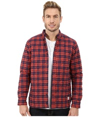 Penfield Kemsey Quilted Long Sleeve Shirt Red Men's Long Sleeve Button Up