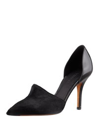 Vince Claire Two Piece Calf Hair Pump Black